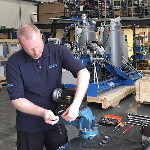 PU mixing machine repairs